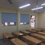 Thi công rèm cuốn tại trường trung học cơ sở Xuân Phương – Nam Từ Liêm